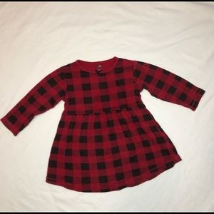 HB Red and Black Checkered Dress 2T